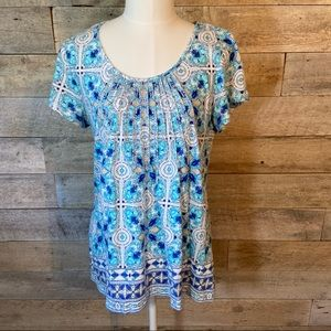 Charter club embellished blouse in size medium